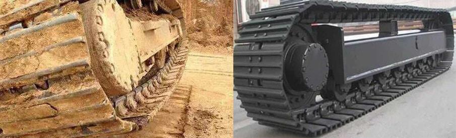 Excavator chain tightness